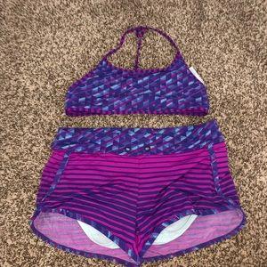 Athleta Girl Bathing Suit Set XL